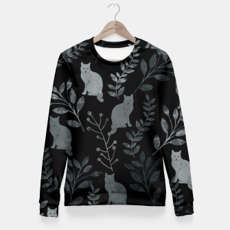 Thumbnail image of Floral and Cat IV Fitted Waist Sweater, Live Heroes