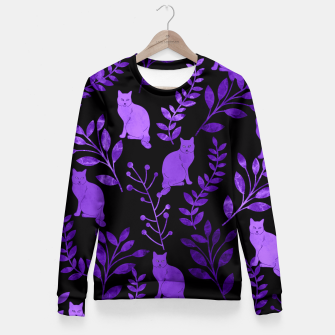 Thumbnail image of Floral and Cat V Fitted Waist Sweater, Live Heroes