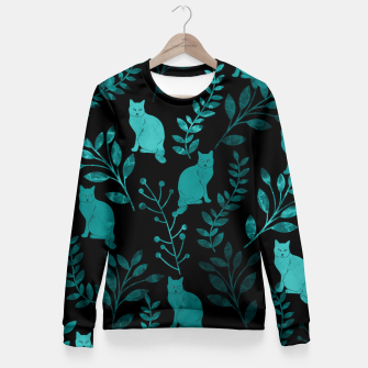 Thumbnail image of Floral and Cat III Fitted Waist Sweater, Live Heroes