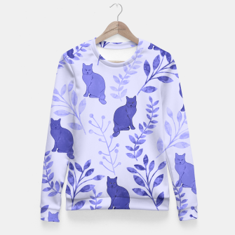 Thumbnail image of Floral and Cat VII Fitted Waist Sweater, Live Heroes