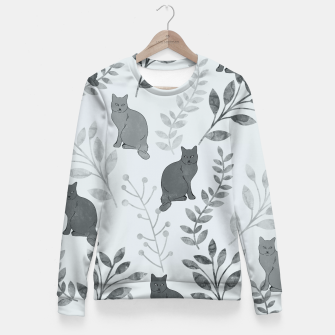 Thumbnail image of Floral and Cat VIII Fitted Waist Sweater, Live Heroes