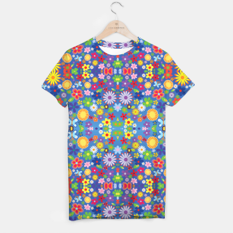 Thumbnail image of Colorful Flowers T-shirt, Live Heroes