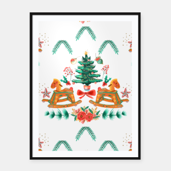 Thumbnail image of cozy christmas Framed poster, Live Heroes