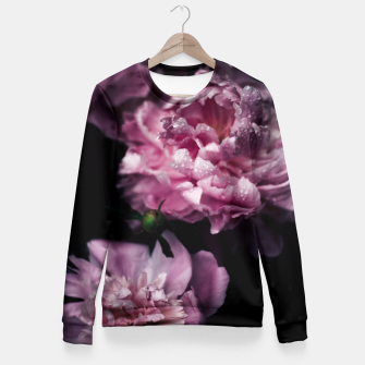 Thumbnail image of Peonies Dark Fitted Waist Sweater, Live Heroes