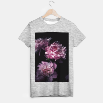 Thumbnail image of Peonies Dark T-shirt regular, Live Heroes