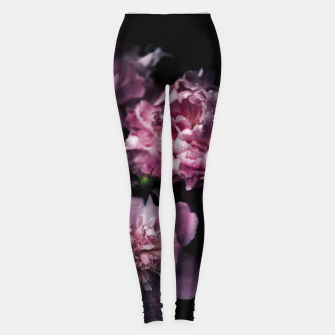 Thumbnail image of Peonies Dark Leggings, Live Heroes