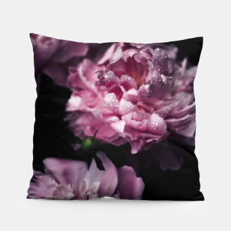 Thumbnail image of Peonies Dark Pillow, Live Heroes
