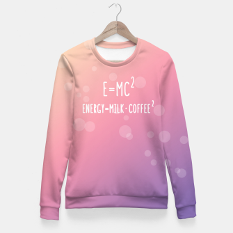 Miniaturka E=mc2 Fitted Sweatshirt, Live Heroes