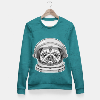 Miniatur Astronault Pug Fitted Waist Sweater, Live Heroes