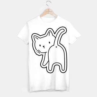 Miniaturka Cat's back White Sticker Tshirt, Live Heroes
