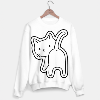 Miniaturka Cat's back White Sticker Sweatshirt, Live Heroes
