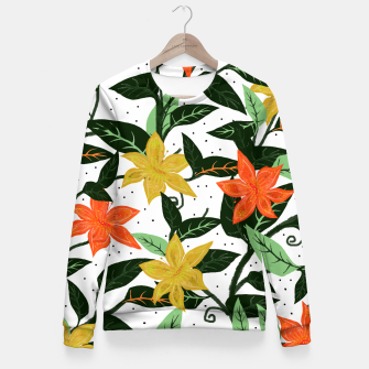 Thumbnail image of Tropical Rainforest Fitted Waist Sweater, Live Heroes