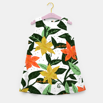 Thumbnail image of Tropical Rainforest Girl's Summer Dress, Live Heroes