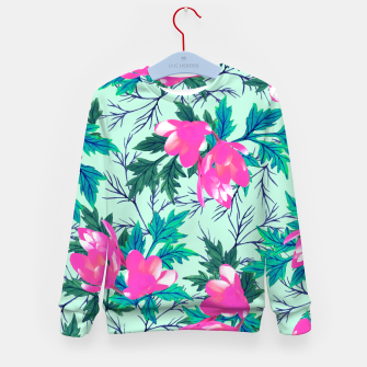 Thumbnail image of Summer Garden Kid's Sweater, Live Heroes