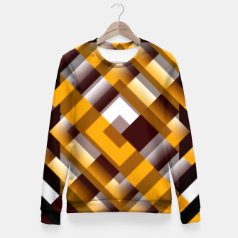 Thumbnail image of Mask Pattern Highpass Fitted Waist Sweater, Live Heroes
