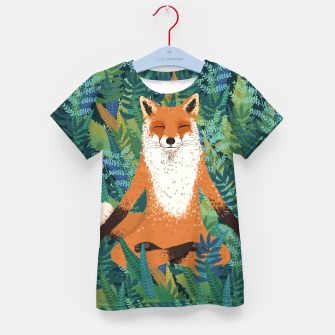 Thumbnail image of Fox Yoga Kid's T-shirt, Live Heroes