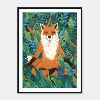Thumbnail image of Fox Yoga Framed poster, Live Heroes