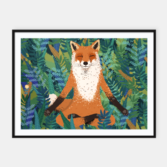 Thumbnail image of Fox Yoga Framed poster - HB, Live Heroes