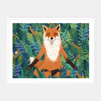 Thumbnail image of Fox Yoga Framed poster - HW, Live Heroes