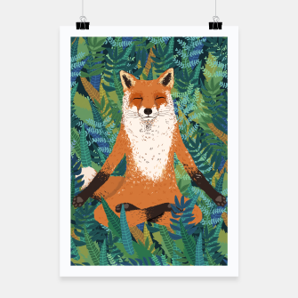 Thumbnail image of Fox Yoga Poster, Live Heroes