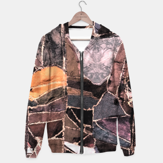Miniatur Leather Patchwork Print Design Hoodie, Live Heroes