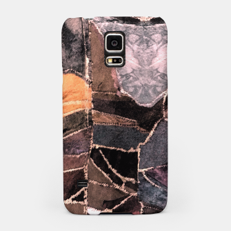 Miniatur Leather Patchwork Print Design Samsung Case, Live Heroes