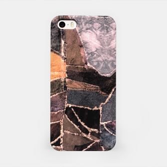 Miniatur Leather Patchwork Print Design iPhone Case, Live Heroes