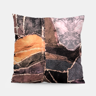 Miniatur Leather Patchwork Print Design Pillow, Live Heroes
