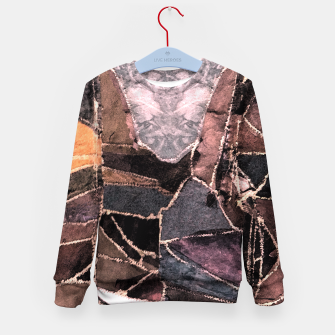 Miniatur Leather Patchwork Print Design Kid's Sweater, Live Heroes