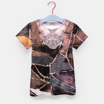 Miniatur Leather Patchwork Print Design Kid's T-shirt, Live Heroes