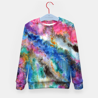 Miniaturka Galaxy colours #abstract #art #buyart Kid's Sweater, Live Heroes