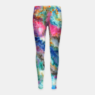 Miniaturka Galaxy colours #abstract #art #buyart Girl's Leggings, Live Heroes