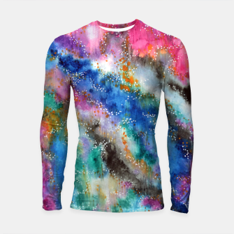 Miniaturka Galaxy colours #abstract #art #buyart Longsleeve Rashguard , Live Heroes