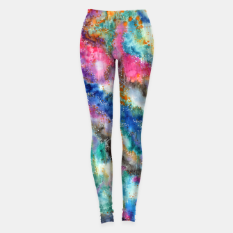 Miniaturka Galaxy colours #abstract #art #buyart Leggings, Live Heroes