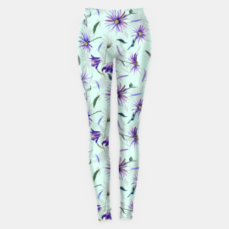 Miniatur Watercolor flowers Leggings, Live Heroes