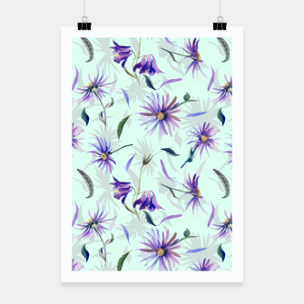 Thumbnail image of Watercolor flowers Cartel, Live Heroes