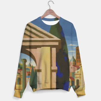 Thumbnail image of Vintage Rome Travel Poster Sweater, Live Heroes