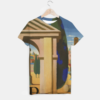Thumbnail image of Vintage Rome Travel Poster T-shirt, Live Heroes