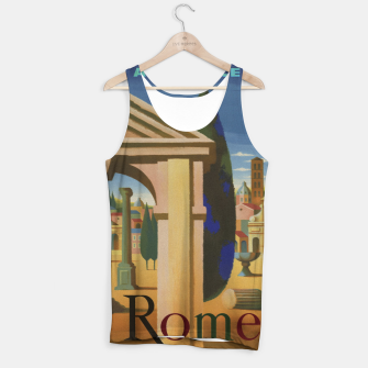 Thumbnail image of Vintage Rome Travel Poster Tank Top, Live Heroes