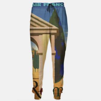 Thumbnail image of Vintage Rome Travel Poster Sweatpants, Live Heroes