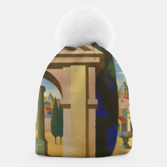 Thumbnail image of Vintage Rome Travel Poster Beanie, Live Heroes