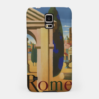 Thumbnail image of Vintage Rome Travel Poster Samsung Case, Live Heroes