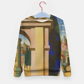 Thumbnail image of Vintage Rome Travel Poster Kid's Sweater, Live Heroes