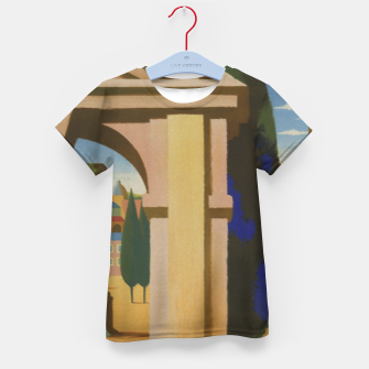 Thumbnail image of Vintage Rome Travel Poster Kid's T-shirt, Live Heroes