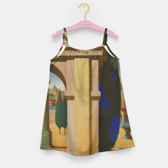 Thumbnail image of Vintage Rome Travel Poster Girl's Dress, Live Heroes