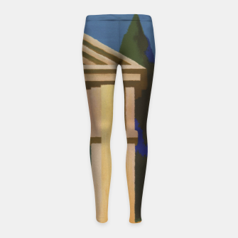 Thumbnail image of Vintage Rome Travel Poster Girl's Leggings, Live Heroes