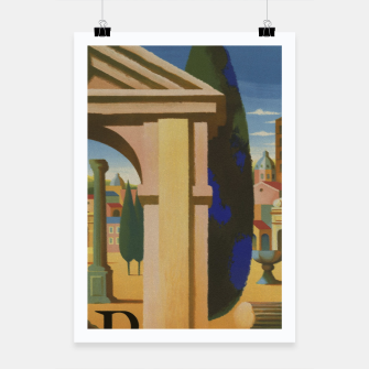Thumbnail image of Vintage Rome Travel Poster Poster, Live Heroes