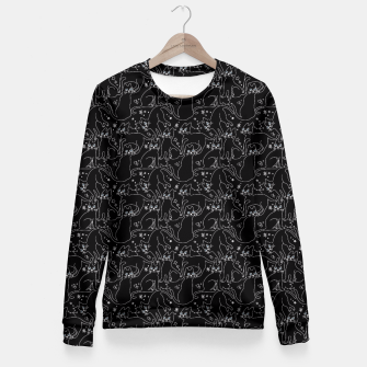 Thumbnail image of LIGHTS OFF CATS COME OUT Fitted Waist Sweater, Live Heroes