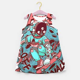 VANS - off the wall alien Girl's Summer Dress obraz miniatury