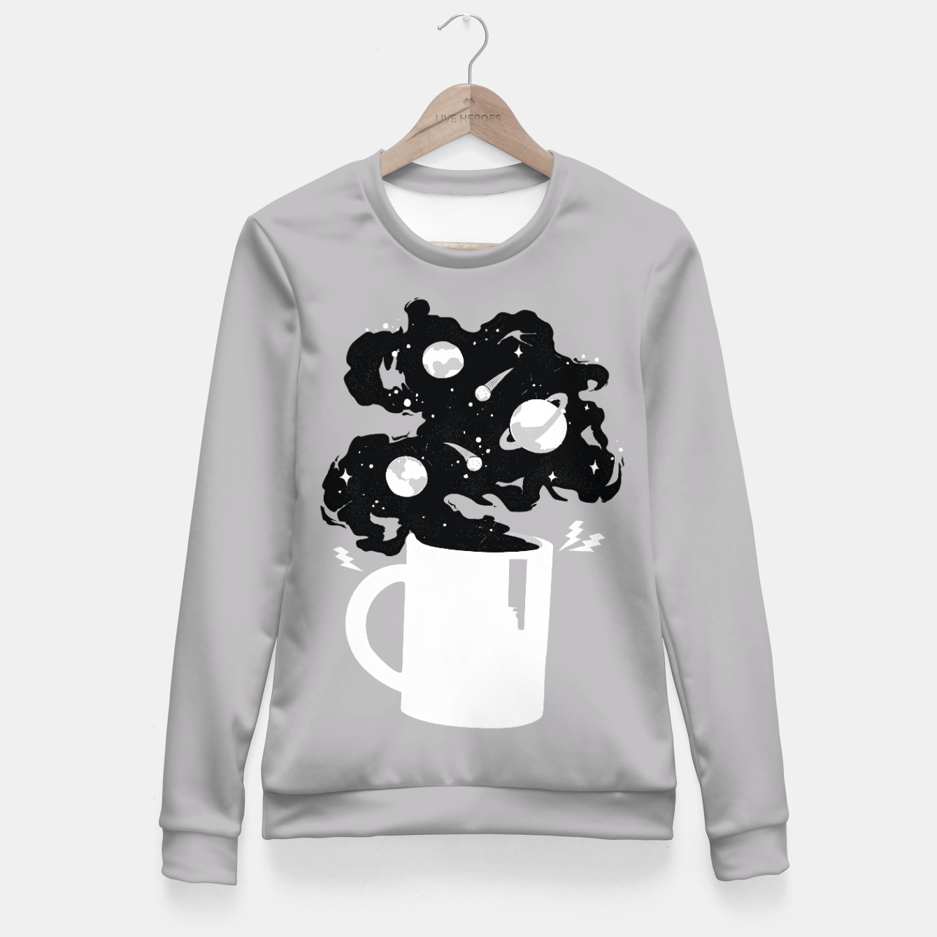 Zdjęcie Galaxy Coffee Fitted Waist Sweater - Live Heroes